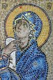 Icono del mosaico de la Virgen Maria Fotografía de archivo