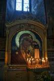 Icono del mosaico de nuestra señora de Kazán en catedral de la suposición fotografía de archivo