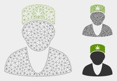 Icono del mosaico del modelo y del triángulo del doctor Vector Mesh del cáñamo 2.o libre illustration