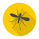 Icono del mosquito con la sombra larga Fotografía de archivo