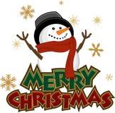Icono del muñeco de nieve Imagen de archivo