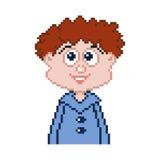 Icono del muchacho del pixel Fotos de archivo libres de regalías