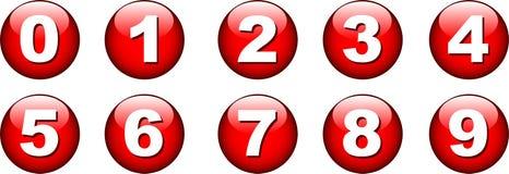 Icono del número del botón Fotografía de archivo libre de regalías