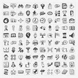 Icono del negocio del garabato ilustración del vector