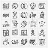 Icono del negocio del garabato libre illustration