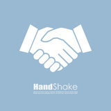 Icono del negocio del vector del apretón de manos stock de ilustración