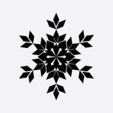 Icono del negro del copo de nieve del vintage Fotos de archivo libres de regalías
