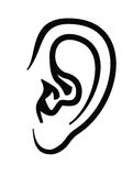 Icono del oído Foto de archivo libre de regalías