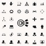 icono del objetivo común Sistema universal de los iconos del trabajo en equipo para el web y el móvil stock de ilustración