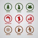 Icono del objeto de la Navidad Imagenes de archivo