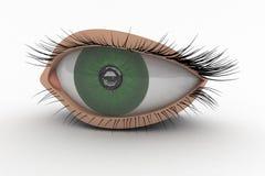 icono del ojo 3D Imagen de archivo libre de regalías