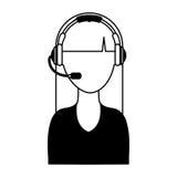 Icono del operador de centro de atención telefónica Imagen de archivo libre de regalías