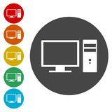 Icono del ordenador ilustración del vector