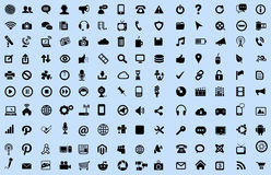 Icono del ordenador y de Internet Imagenes de archivo