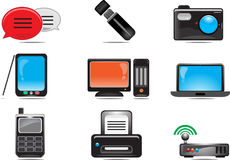 Icono del ordenador y del dispositivo Foto de archivo