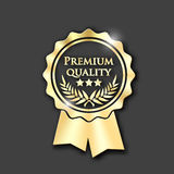 Icono del oro con calidad del premio del texto libre illustration