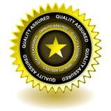 Icono del oro de la calidad ilustración del vector