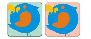 Icono del pájaro Fotografía de archivo libre de regalías