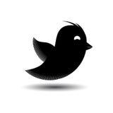 Icono del pájaro de vuelo aislado Ilustración del vector Fotografía de archivo libre de regalías
