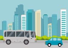 Icono del público del transporte del autobús libre illustration
