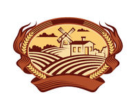 Icono del paisaje de la agricultura Fotos de archivo libres de regalías