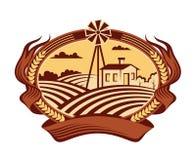 Icono del paisaje de la agricultura Fotografía de archivo libre de regalías