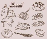Icono del pan Fotografía de archivo libre de regalías