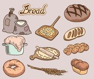 Icono del pan Imagenes de archivo