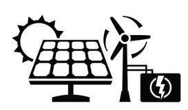 Icono del panel solar Imagen de archivo libre de regalías