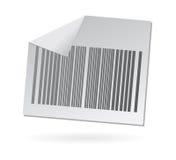 Icono del papel de clave de barras Foto de archivo libre de regalías