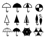 Icono del paraguas Imágenes de archivo libres de regalías
