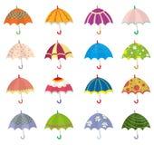 Icono del paraguas de la historieta Imagen de archivo libre de regalías
