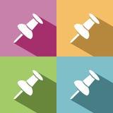 Icono del pasador con la sombra Fotos de archivo libres de regalías
