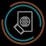 Icono del pasaporte y del boleto - paso del vuelo libre illustration