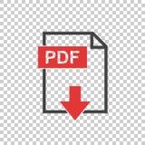 Icono del pdf en fondo ilustración del vector