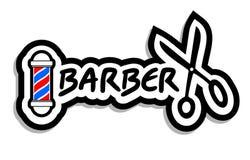 Icono del peluquero Imagen de archivo libre de regalías