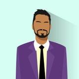 Icono del perfil de African American Race del hombre de negocios Imágenes de archivo libres de regalías