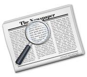 Icono del periódico Foto de archivo libre de regalías