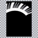 Icono del piano y llaves de la impresión de la música moderna del concepto del piano y del cartel del piano del diseño web en el  ilustración del vector