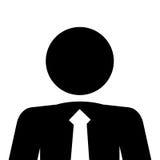Icono del pictograma del hombre de negocios Imagenes de archivo