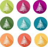 Icono del pino en color Fotos de archivo