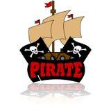 Icono del pirata Fotografía de archivo libre de regalías