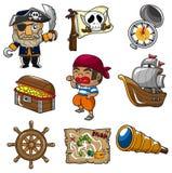 Icono del pirata de la historieta Imagen de archivo libre de regalías
