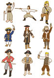 Icono del pirata de la historieta Imágenes de archivo libres de regalías