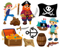 Icono del pirata de la historieta Imagen de archivo