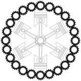 Icono del pistón Fotografía de archivo libre de regalías