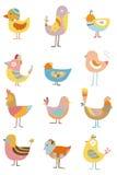 Icono del pájaro de la historieta Fotografía de archivo