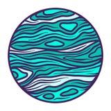 Icono del planeta del espacio, estilo exhausto de la mano ilustración del vector