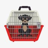 icono del portador del viaje del animal doméstico del perrito ilustración del vector