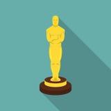 Icono del premio de la Academia en estilo plano Películas y símbolo del cine ilustración del vector